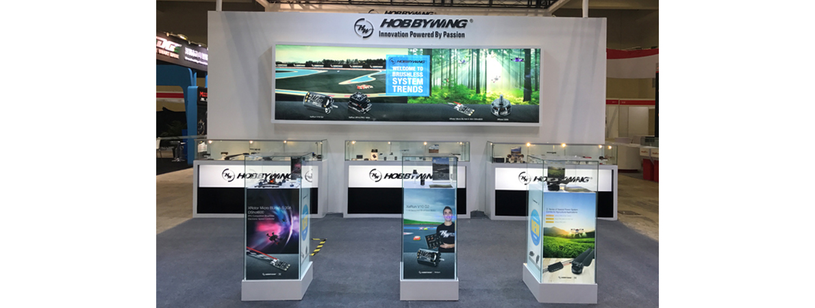 HOBBYWING Attended the 18th Hobby Expo China as one of the Major Exhibitors